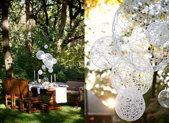 Dekoracja weselna – żyrandole – zrób to sama
