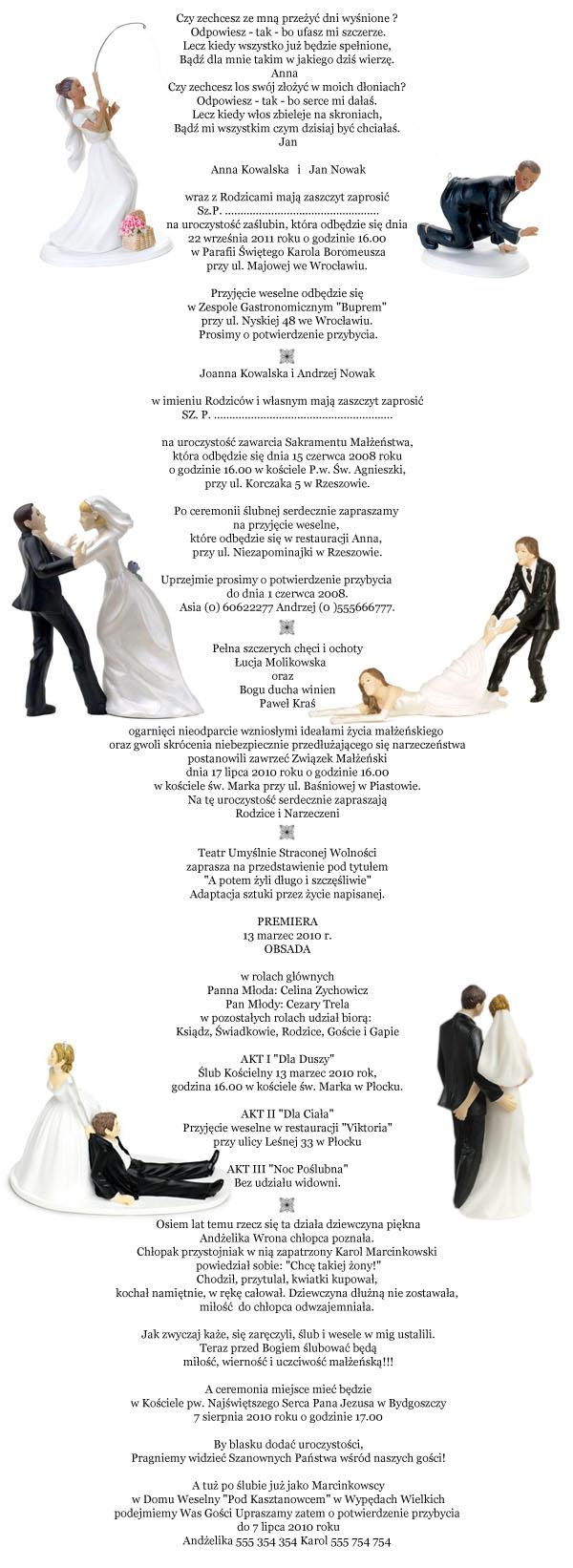 Teksty I Wiersze Na Zaproszenia ślubne Welon I Muszka