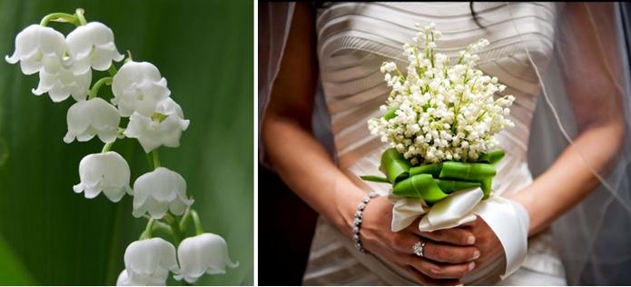 Bukiet ślubny – konwalia
