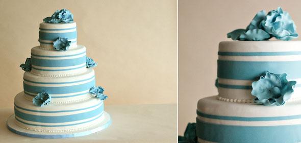 Niebieskie torty ślubne