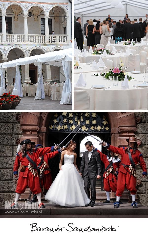 welon i muszka wesele zamek palac Baranów Sandomierski
