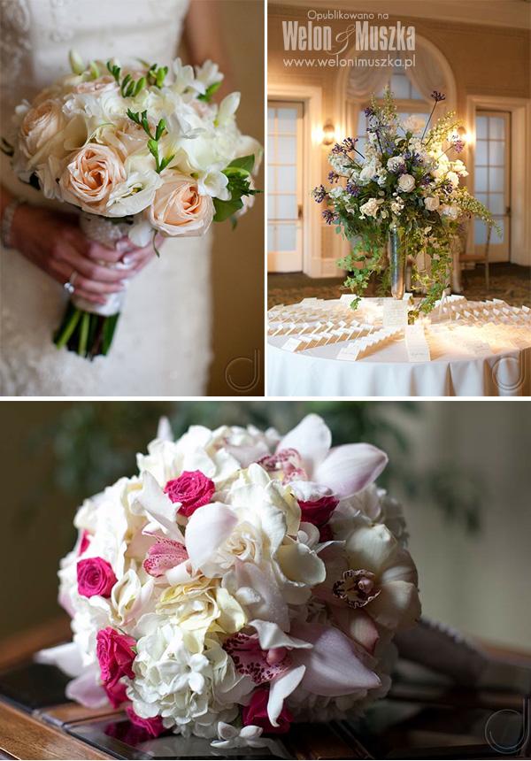 welon i muszka bukiet ślubny i dekoracje