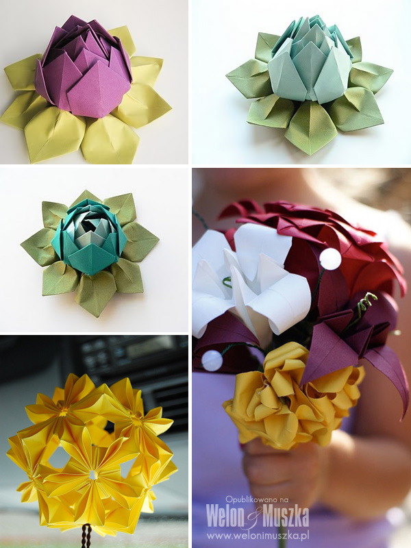 welon u muszka origami na slubie inspiracje dekoracje