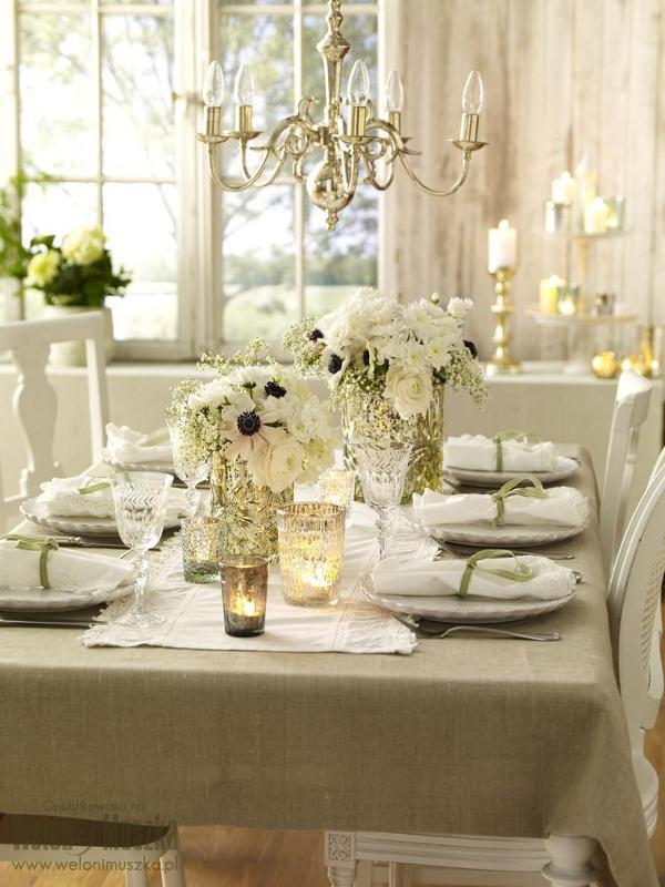 welon i muszka dekoracje stołu