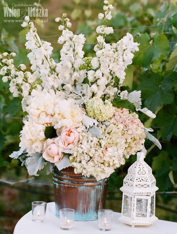 welon i muszka pastelowe wesele