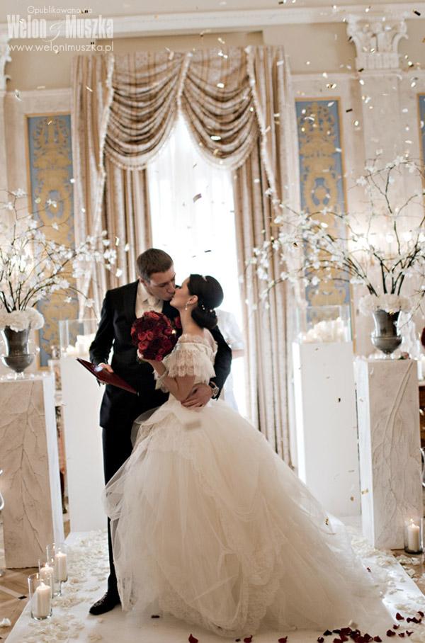 welon i muszka sesja ślubna