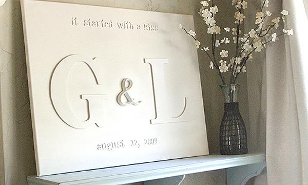 Tablica dla młodej pary