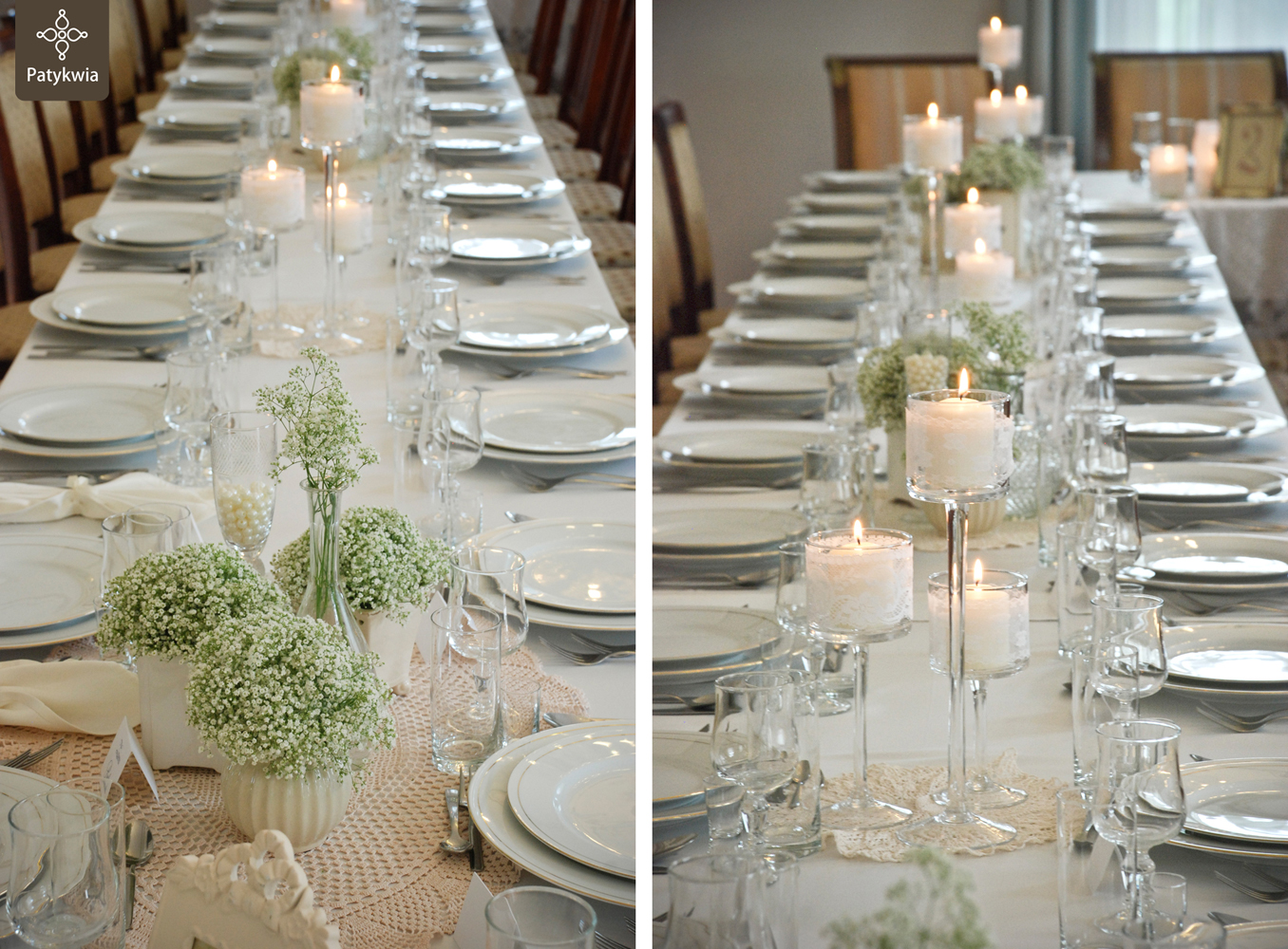 dekoracja wesela gipsówka