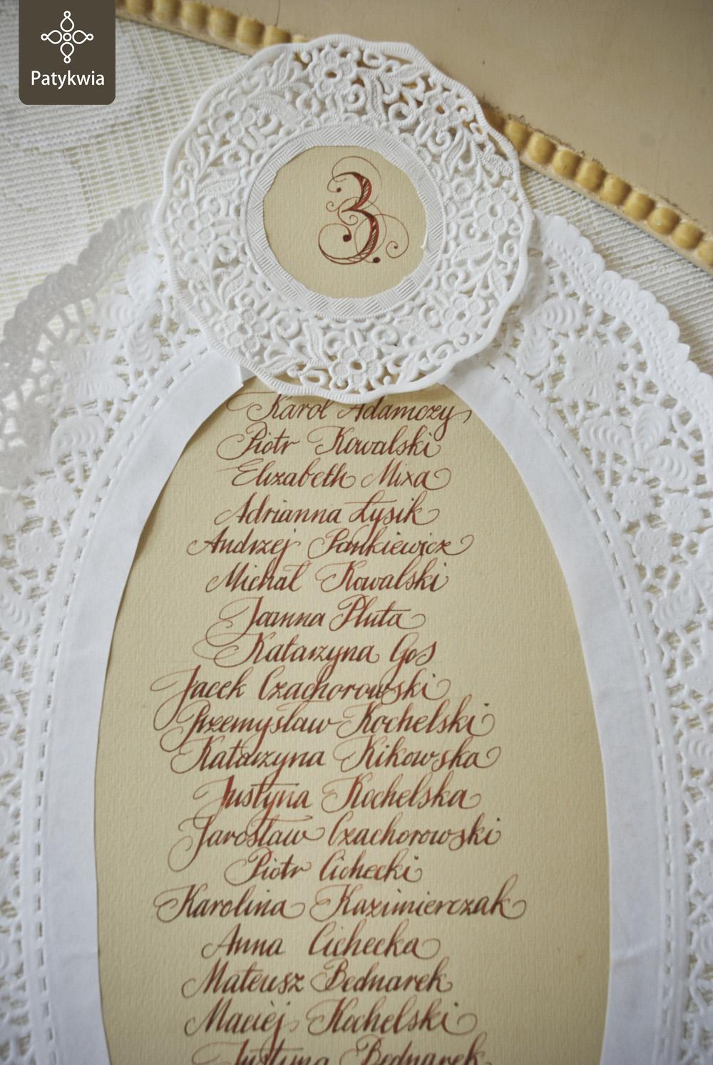 kaligrafowane zaproszenia