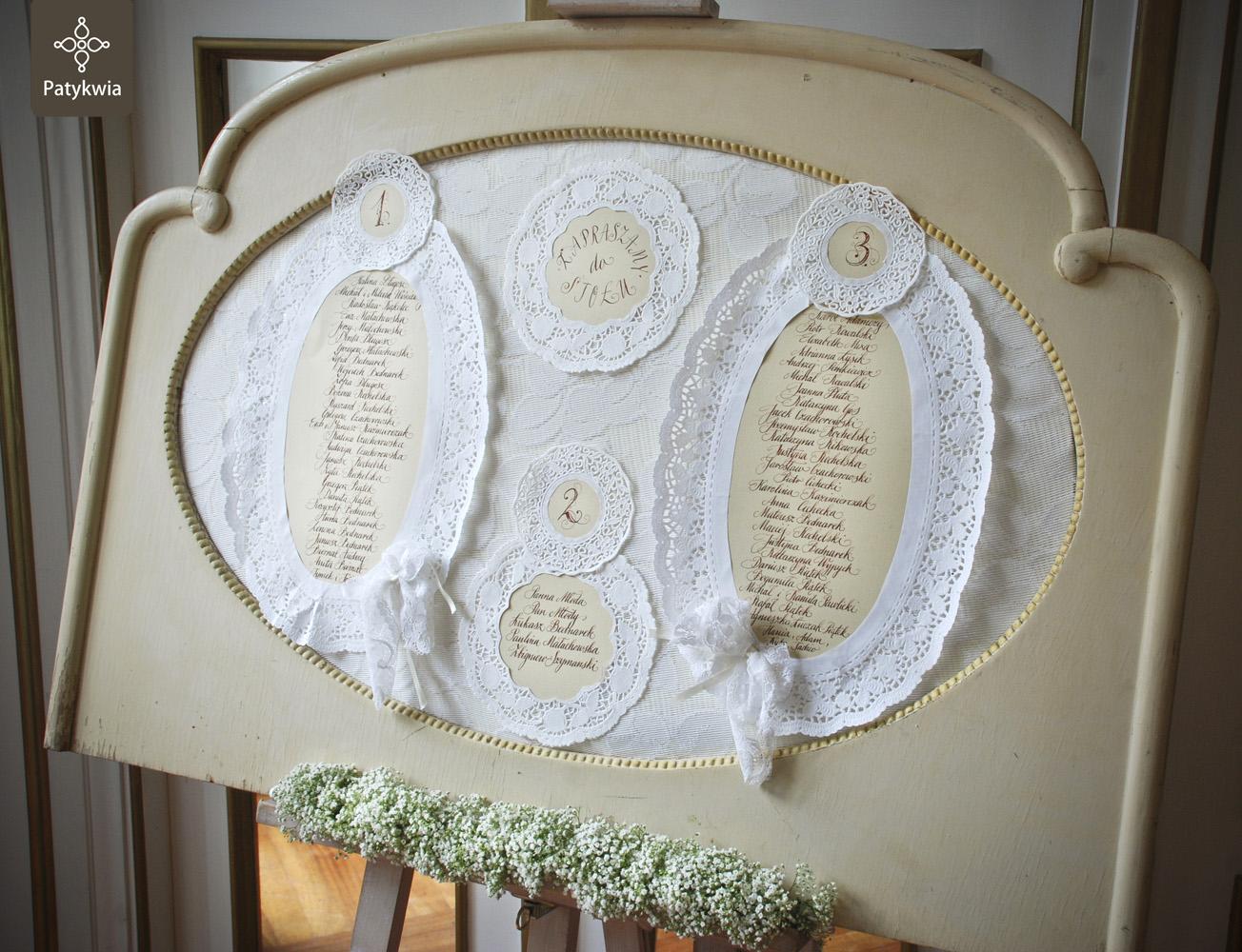 plan stołów wesele
