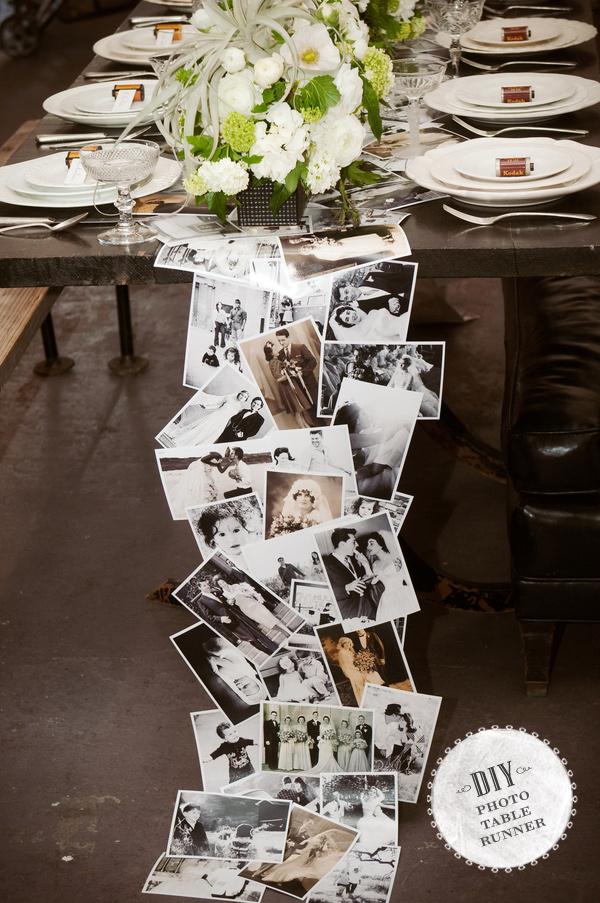 diy-vintage-photo-tablerunner