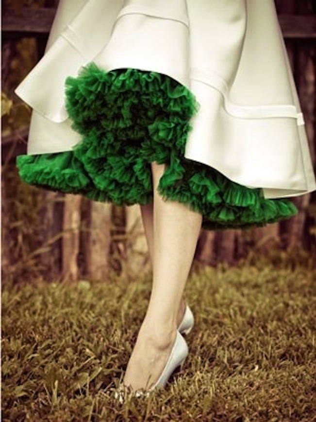pantone-color-2013-emerald-green-ruffles-skirt
